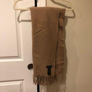 Rag & Bone 100% Wool Camel Scarf